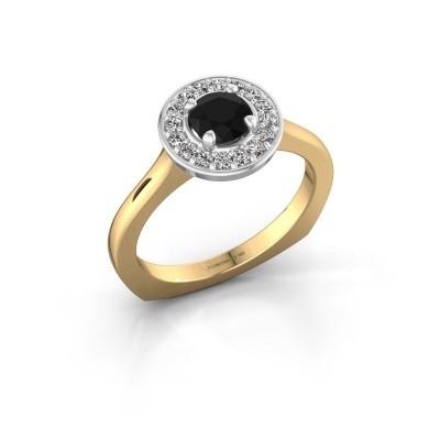 Foto van Ring Kanisha 1 585 goud zwarte diamant 0.792 crt