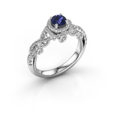 Picture of Engagement ring Leora 585 white gold sapphire 4.7 mm