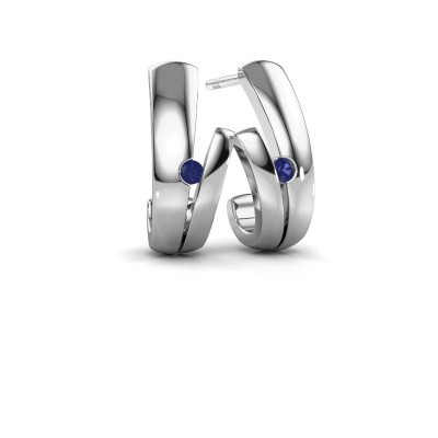 Earrings Shela 585 white gold sapphire 2 mm