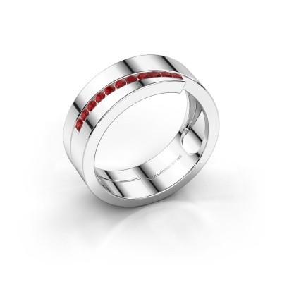 Foto van Ring Loma 925 zilver robijn 1.5 mm