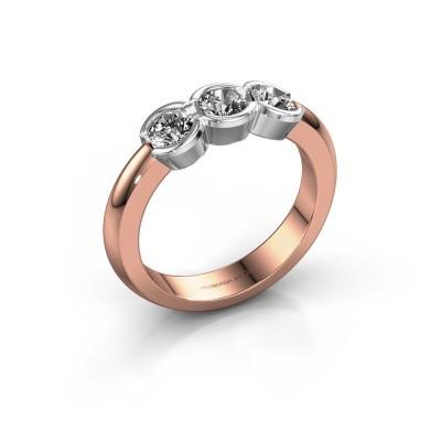 Foto van Verlovingsring Lotte 3 585 rosé goud diamant 0.75 crt