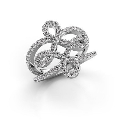Foto van Ring Chantay 950 platina diamant 0.72 crt