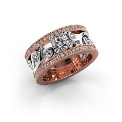 Foto van Ring Sanne 585 rosé goud diamant 1.13 crt