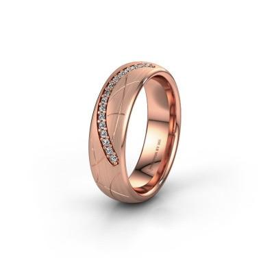 Trouwring WH2060L36CM 375 rosé goud diamant ±6x2.2 mm