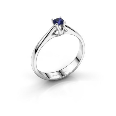 Engagement ring Janna 1 925 silver sapphire 3.4 mm