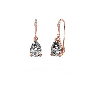 Foto van Oorhangers Laurie 2 375 rosé goud diamant 2.10 crt