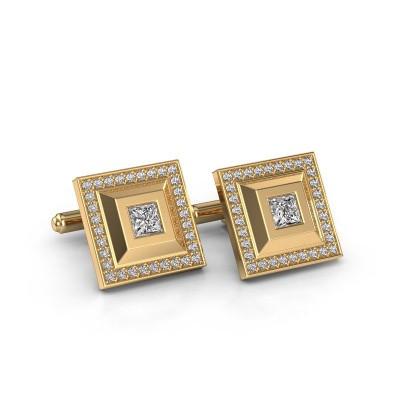Foto van Manchetknopen Joris 585 goud diamant 1.46 crt