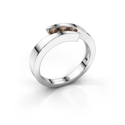 Foto van Ring Gracia 925 zilver rookkwarts 2.7 mm
