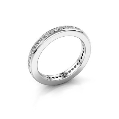 Photo de Bague superposable Elvire 3 585 or blanc diamant 0.48 crt