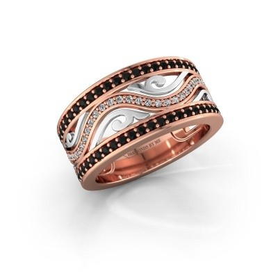 Ring Louvenia 585 Roségold Schwarz Diamant 0.825 crt