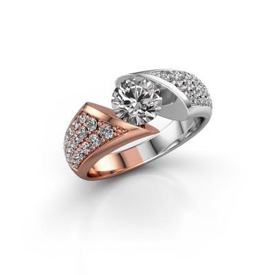 Foto van Verlovingsring Hojalien 3 585 rosé goud diamant 1.625 crt
