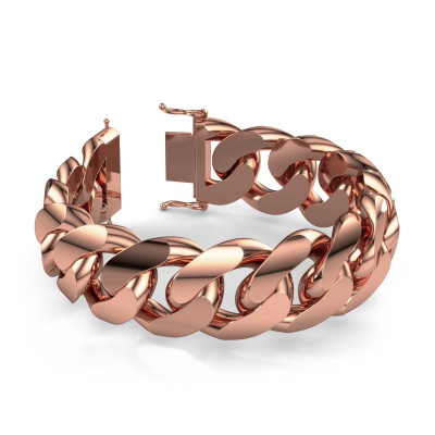 Cuban link armband ±23 mm 375 rosé goud