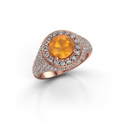 Foto van Ring Dayle 375 rosé goud citrien 7 mm