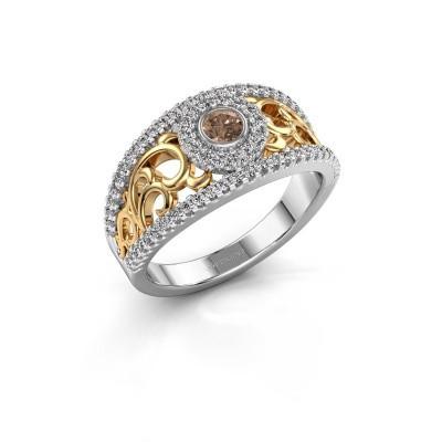 Foto van Ring Lavona 585 witgoud bruine diamant 0.50 crt
