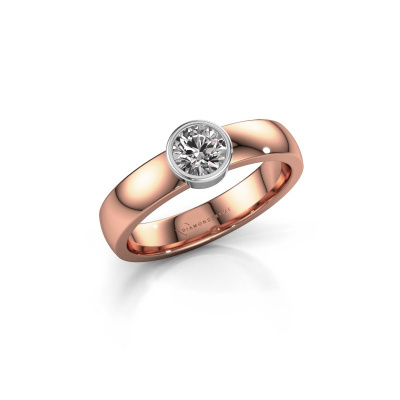Ring Ise 1 585 rose gold lab grown diamond 0.40 crt