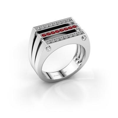 Foto van Heren ring Jauke 950 platina robijn 1.7 mm