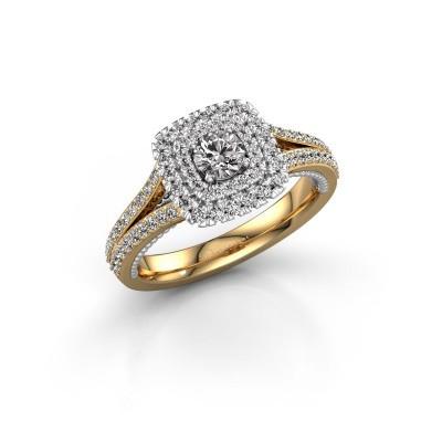 Foto van Verlovingsring Annette 585 goud diamant 0.822 crt
