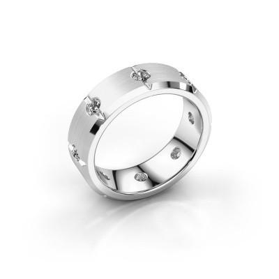 Herren ring Irwin 950 Platin Zirkonia 2.7 mm