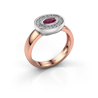 Ring Azra 585 Roségold Rhodolit 5x3 mm