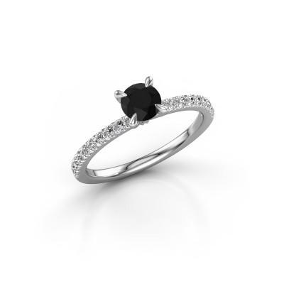 Foto van Verlovingsring Crystal rnd 2 585 witgoud zwarte diamant 0.78 crt