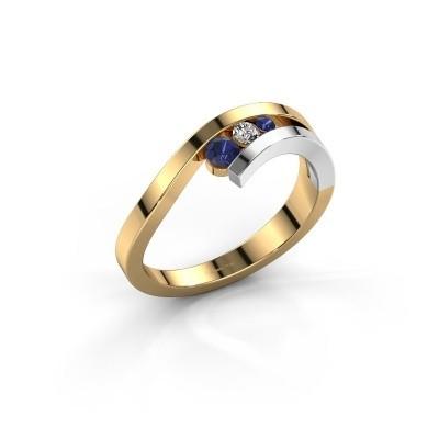 Ring Evalyn 2 585 goud saffier 2.8 mm