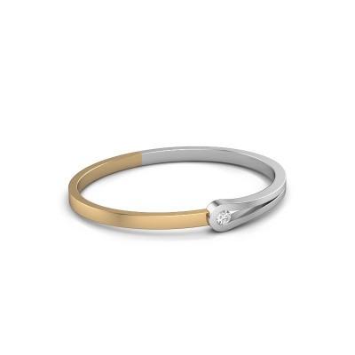 Bangle Kiki 585 white gold diamond 0.30 crt