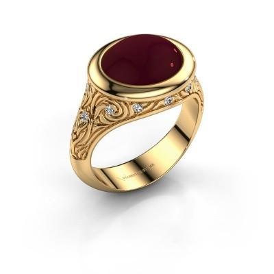 Foto van Ring Natacha 585 goud granaat 12x10 mm