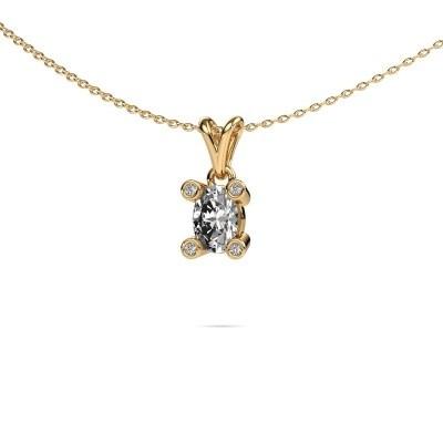 Foto van Ketting Cornelia Oval 585 goud diamant 0.82 crt