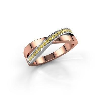 Foto van Ring Kaley 585 rosé goud gele saffier 1.2 mm