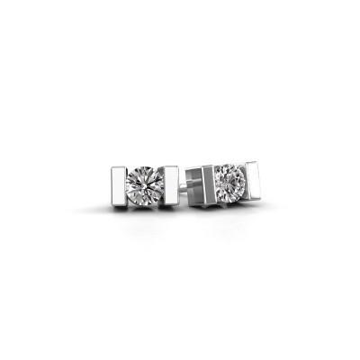 Oorstekers Lieve 950 platina lab-grown diamant 0.40 crt