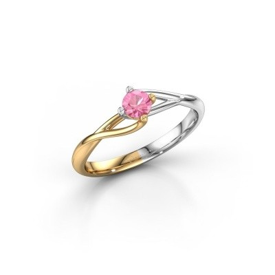 Picture of Engagement ring Paulien 585 gold pink sapphire 4 mm