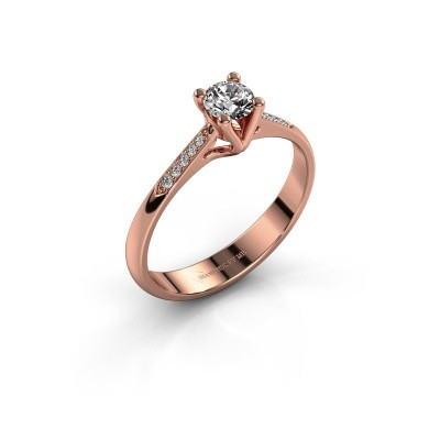 Promise ring Janna 2 375 rosé goud diamant 0.30 crt
