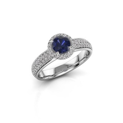 Engagement ring Mildred 585 white gold sapphire 5 mm