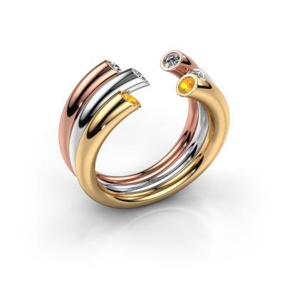 Ring Noelle 585 Gold Citrin 2.4 mm