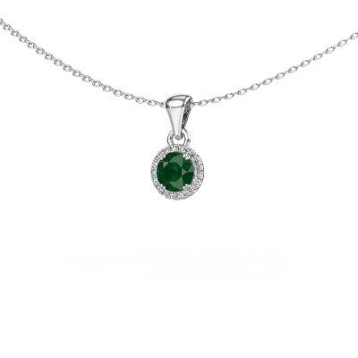 Hanger Seline rnd 925 zilver smaragd 4.7 mm