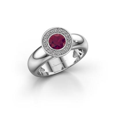 Stacking ring Anna 925 silver rhodolite 5 mm