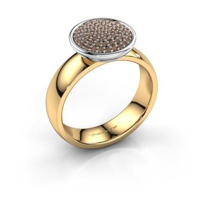 Foto van Ring Tilda 585 goud bruine diamant 0.305 crt
