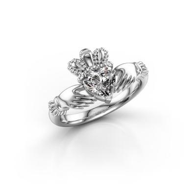 Photo de Bague Claddagh 2 925 argent diamant synthétique 0.80 crt