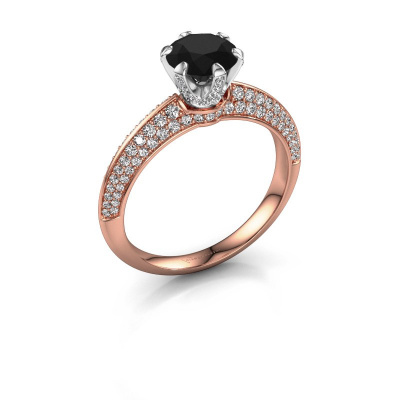 Picture of Engagement ring Abby 585 rose gold black diamond 1.95 crt