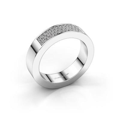 Ring Lindsey 1 585 witgoud zirkonia 1.1 mm