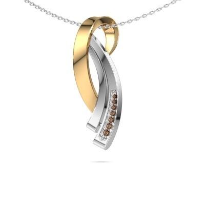 Foto van Ketting Lida 585 goud bruine diamant 0.064 crt