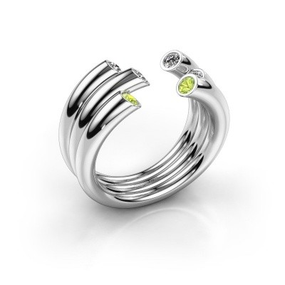 Ring Noelle 925 silver peridot 2.4 mm