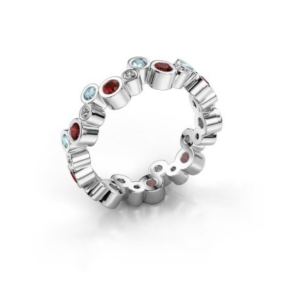 Picture of Ring Tessa 375 white gold garnet 2.5 mm