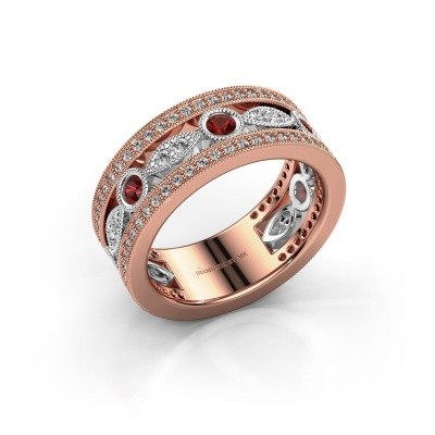 Picture of Ring Jessica 585 rose gold garnet 2.5 mm