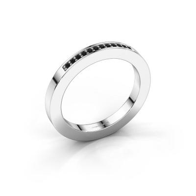 Aanschuifring Loes 1 925 zilver zwarte diamant 0.096 crt
