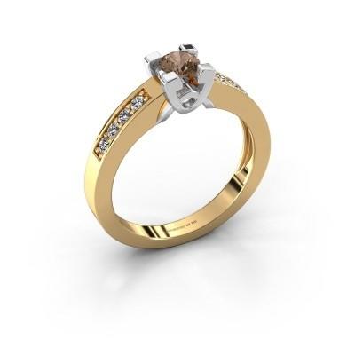 Verlovingsring Nina 2 585 goud bruine diamant 0.460 crt