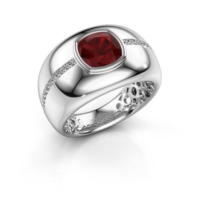 Picture of Ring Sydney 585 white gold ruby 7.5 mm