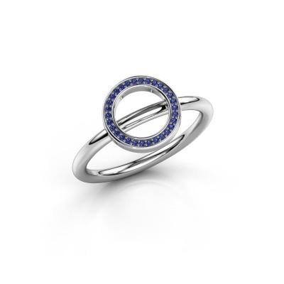 Ring Shape round large 925 zilver saffier 0.8 mm