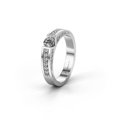 Trouwring WH2098L 950 platina lab-grown diamant ±4x3 mm