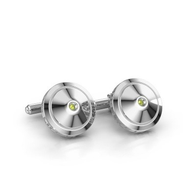 Picture of Cufflinks Demian 925 silver peridot 2.2 mm